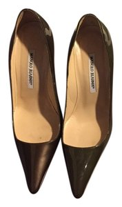 Manolo Blahnik Green brown Pumps