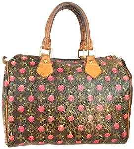 Louis Vuitton Satchel in Red/Brown