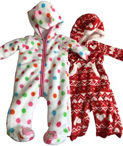 absorba / Carter's Baby Fleece Hooded Jumpsuits (3-6 months)