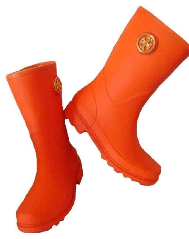 af246063bc64 Tory Burch Poppy Red (Orange) Maureen Rain Boots Booties. Size  US 10 ...