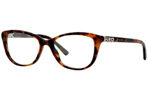 BVLGARI Bvlgari Women Cat Eye Eyeglasses BV4092B -5243 Havana Frame Demo Lens