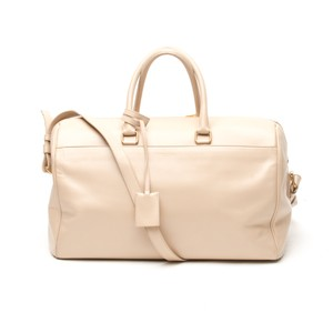 Saint Laurent 24 Hour Duffle Satchel in Beige