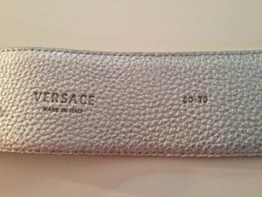 Versace Silver Versace Leather Belt