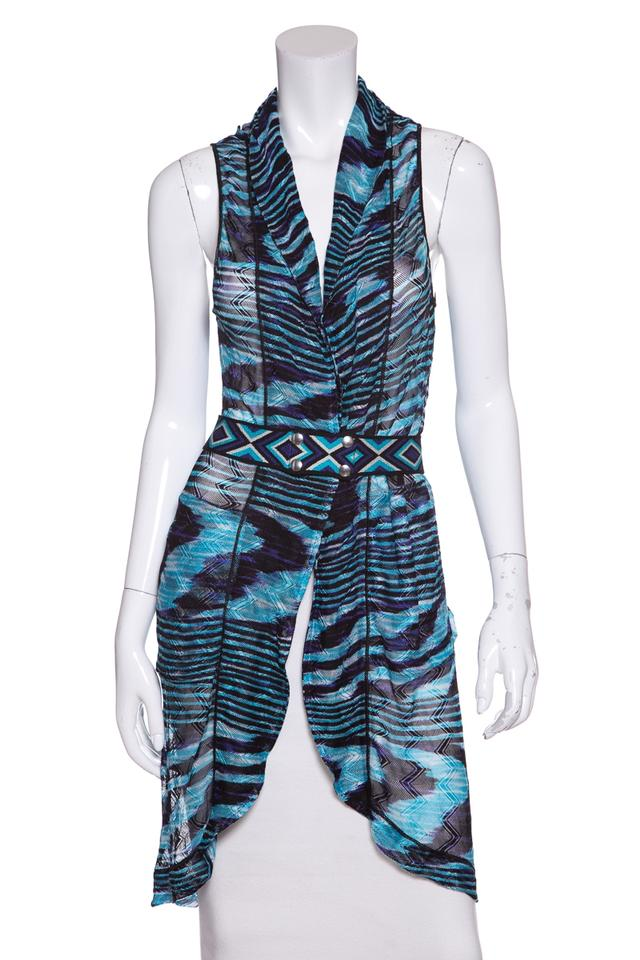 Missoni Blue   Black Hooded Knit Vest Size 8 (M) - Tradesy 8a8a3295c