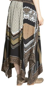 Free People Paisley Floral Print Maxi Skirt