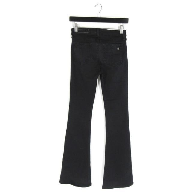 Item - Black Dark Rinse - High Bell Washed Stretch Bell Bottom Flare Leg Jeans Size 26 (2, XS)