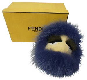 Fendi 7AR389 6DK F01E1 Monster Bugs Bag Charm Keychain Purple Fur