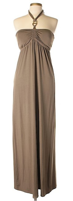 Item - Brown Sweetheart Halter Long Casual Maxi Dress Size 12 (L)