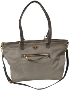 Prada Crossbody Leather Saffiano Nylon Tote