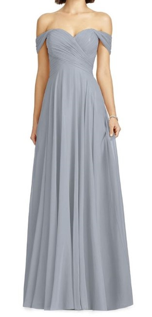Item - Lilac Purple Lux Off The Shoulder Chiffon Gown Formal Bridesmaid/Mob Dress Size 0 (XS)
