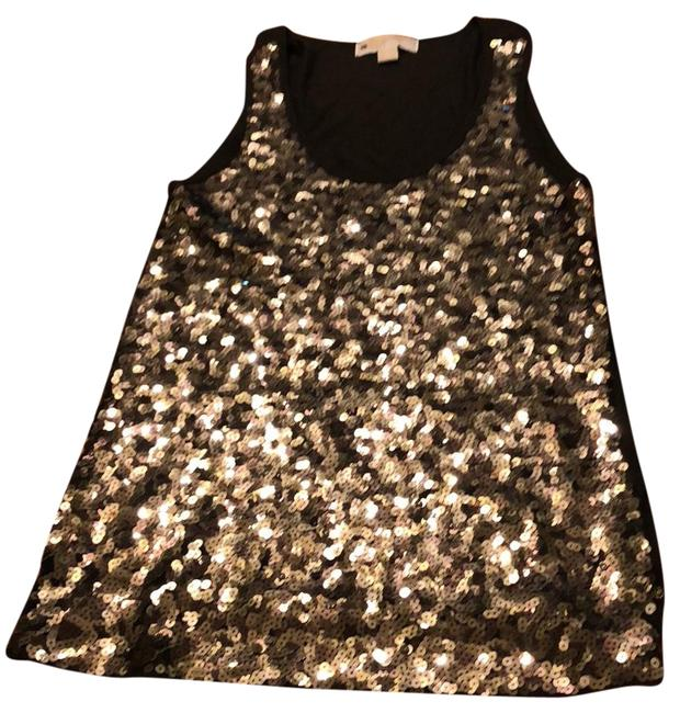 Item - Gold and Black Sequin Tunic Size 8 (M)