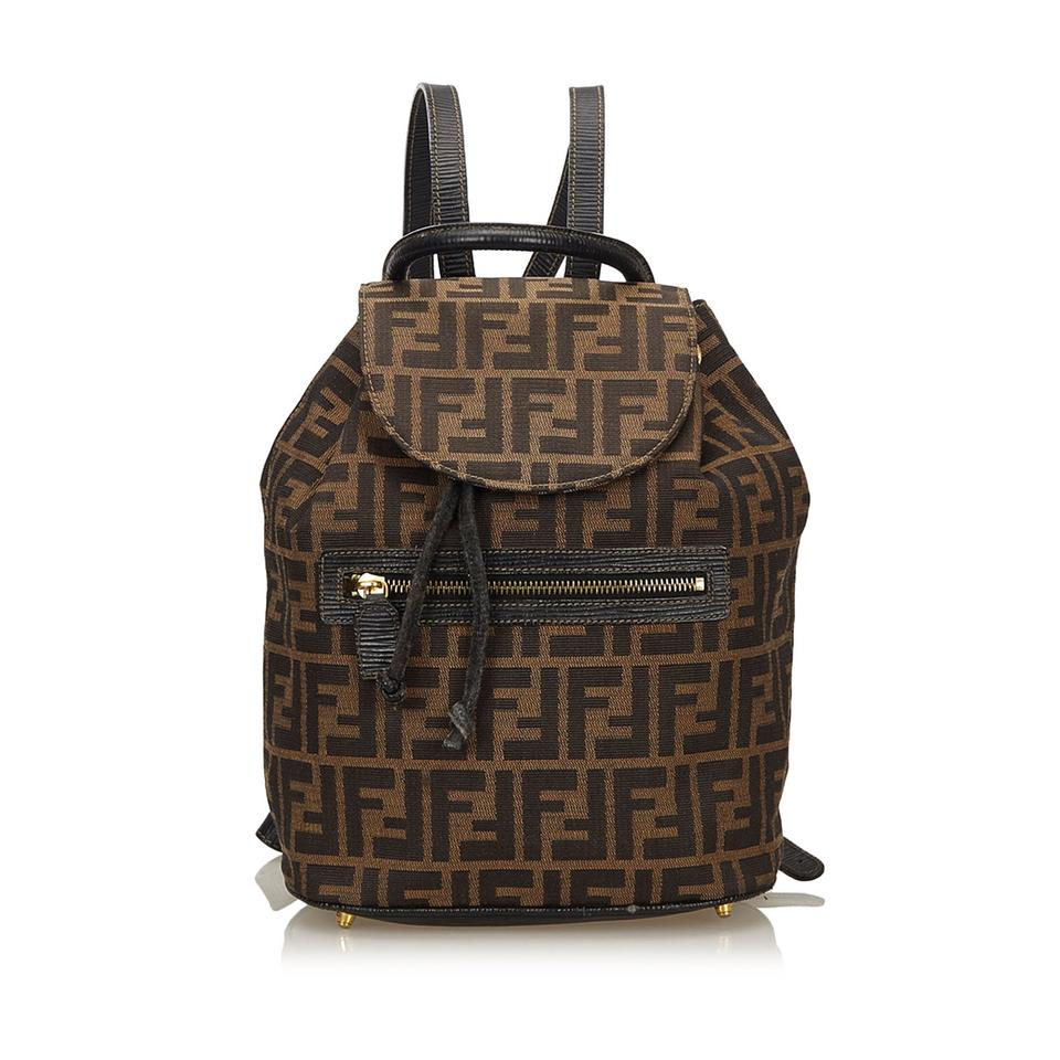 396bafd964 Fendi Zucca Brown Fabric X Canvas Backpack - Tradesy
