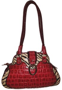 Marc Chantal Red Patent Leather Refurbished Lined Hobo Bag