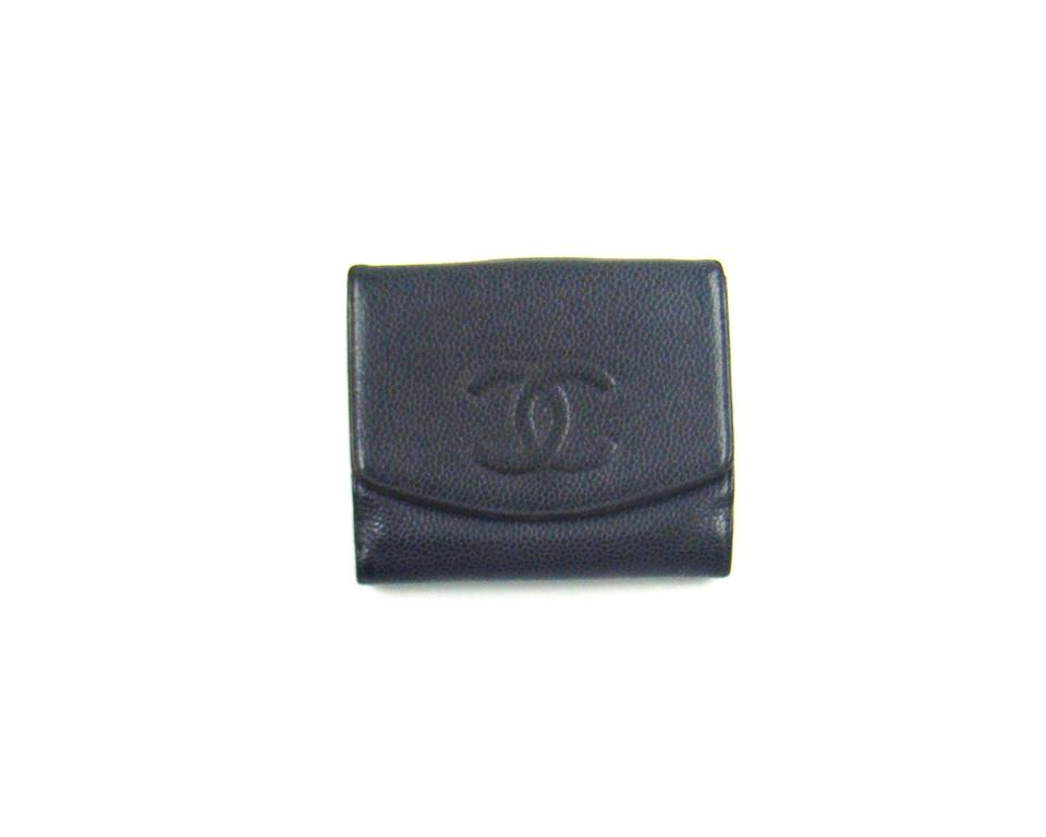 6b2987a77c84 Chanel Black Clutch Caviar Leather Bifold Compact Snap France Wallet -  Tradesy