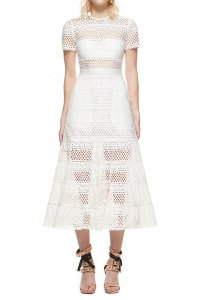 self-portrait short dress White Bea Eyelet on Tradesy