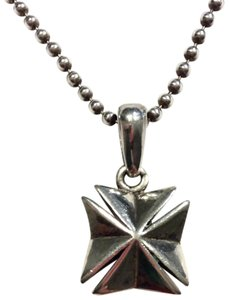 King Baby CROSS PENDANT ON BALL CHAIN NECKLACE