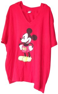 Disney Sleeve Great Color Hooded T Shirt Red