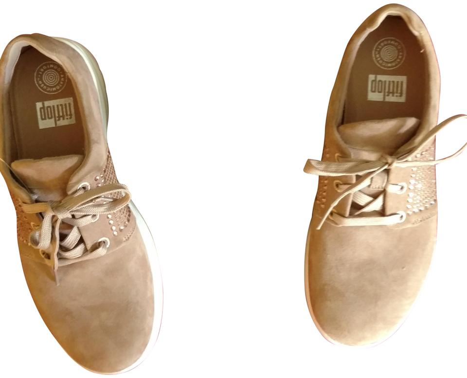 48434095f FitFlop Tan Sporty-pop™ X Crystal Suede Sandals Size US 8.5 Regular ...