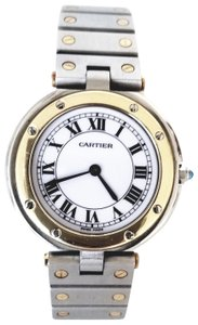 Cartier Santos Vendome Two Tone 18 K Gold & Stainless Steel