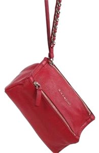 Givenchy Pandora Leather Wristlet in red