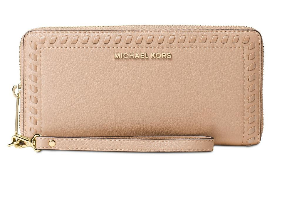 f5c4cf173849 Michael Kors Michael Kors Lauryn Whipstitch Continental Oyster Leather  Wallet Image 0 ...