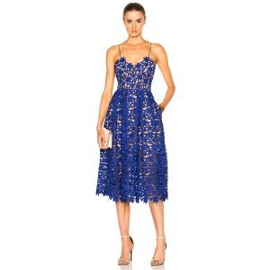 Cobalt Blue Maxi Dress by self-portrait Wedding Lace Date Night Azalea