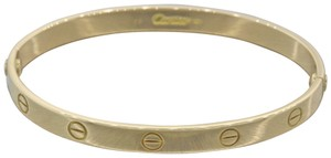 Cartier Authentic Cartier Love 18k Yellow Gold Bangle Bracelet Screw Pouch