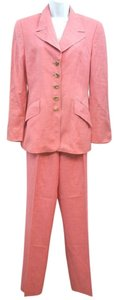 Escada ERMENEGILDO ZEGNA EXCLUSIVELY FOR ESCADA PINK PANT SUIT 36
