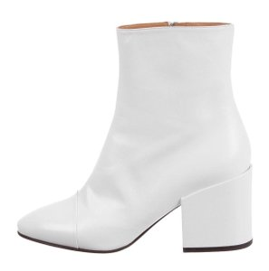 Dries van Noten Leather Spring Ankle White Boots