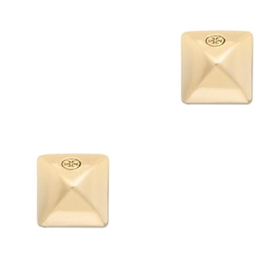 Tory Burch Round Pyramid Stud Earrings
