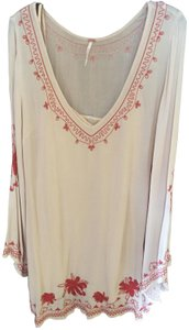 Free People Embroidered Bell Sleeves Slip Tunic