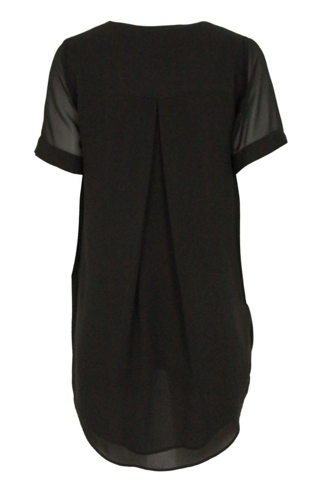 b204ee8150 Topshop Black Draped Mini Short Night Out Dress Size Petite 4 (S ...