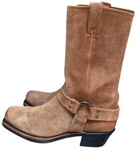 Frye Harness Suede Tan Boots