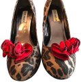 Steve Madden brown leopard with red Pumps