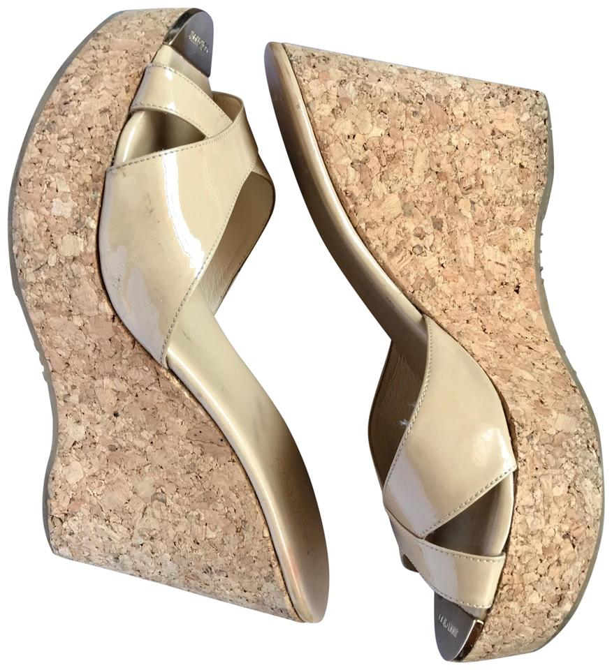 7dd581ecb19 Jimmy Choo Nude Pandora Wedges Size EU 41 (Approx. US 11) Regular (M ...