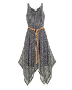34c8d58e57 Black Ecru Maxi Dress by Chico s Maxi Handkerchief Hem