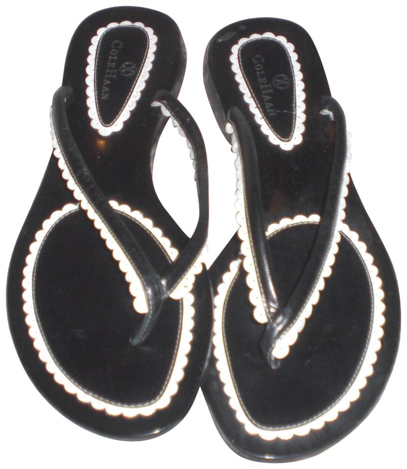 dca9b1e1dc4 Cole Haan Black White Cole-haan-sandals-flip-flops-summer-thong ...