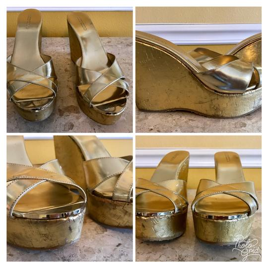Jimmy Choo Gold Wedges Image 1