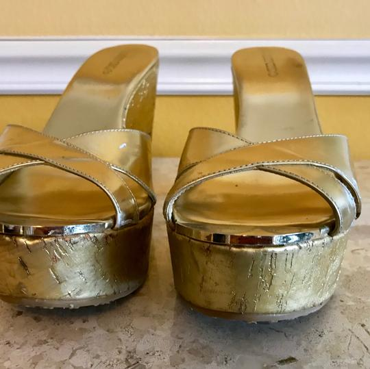 Jimmy Choo Gold Wedges Image 10