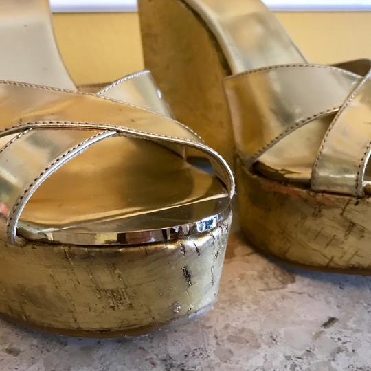 Jimmy Choo Gold Wedges Image 11