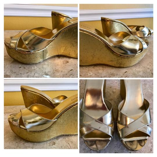 Jimmy Choo Gold Wedges Image 3