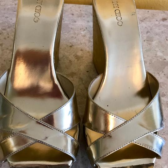 Jimmy Choo Gold Wedges Image 4