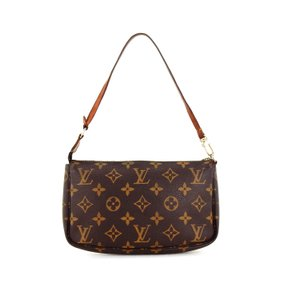 Louis Vuitton Monogram Pochette Accessory Vintage France Brown Clutch