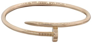 Cartier Cartier Juste un Clou 18k Rose Gold Nail Bracelet Size 18 with Box