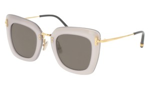 Boucheron Boucheron Women Sunglasses BC0015 S- 006 Gold/Silver Frame & Grey Lens