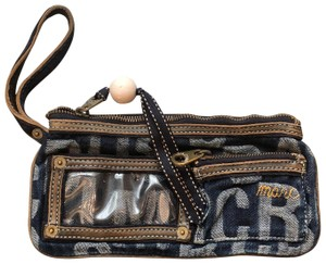 Marc by Marc Jacobs Denim Zip Blue Clutch