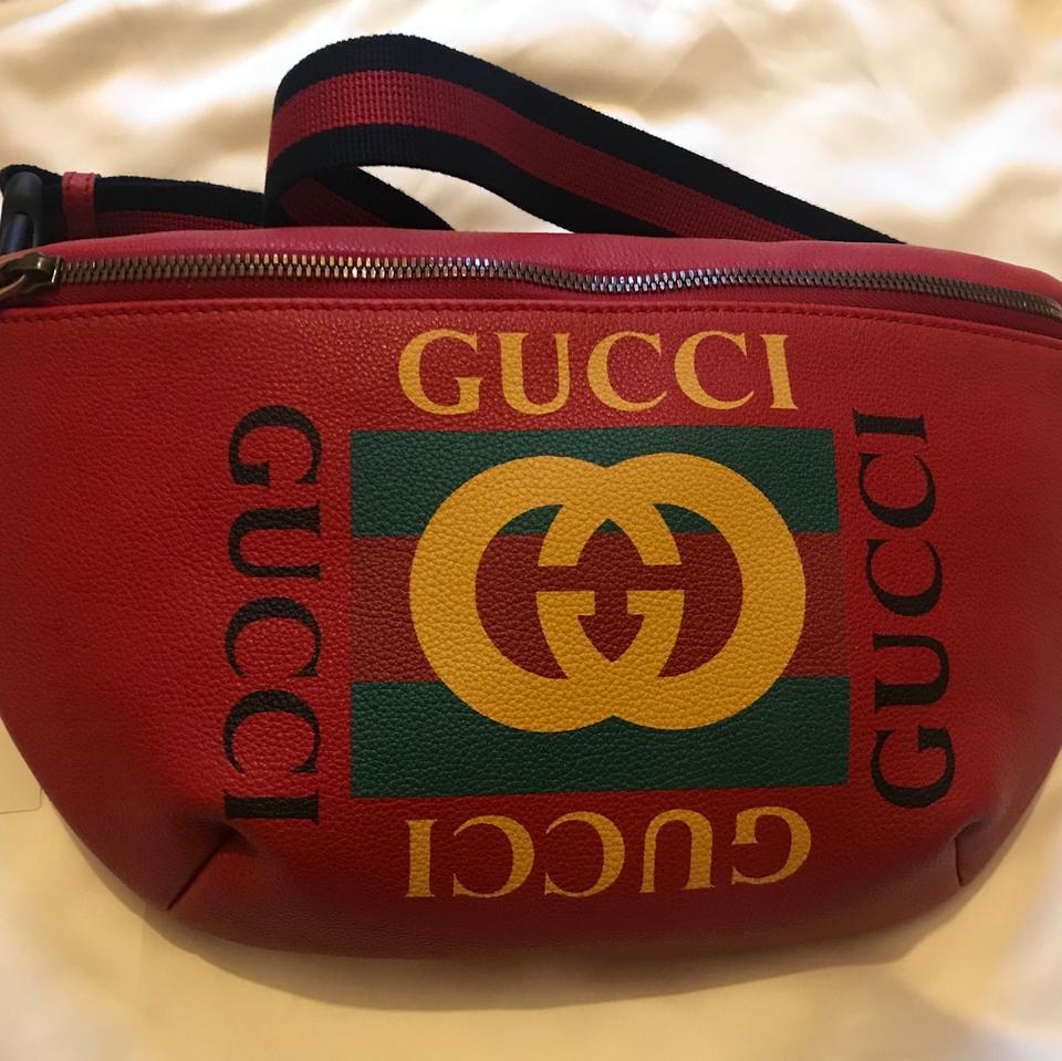 17b853414b80 Gucci Fanny Pack Red Leather Messenger Bag - Tradesy
