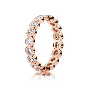 PANDORA Pandora Clear CZ Eternity Band Ring in rose gold plated