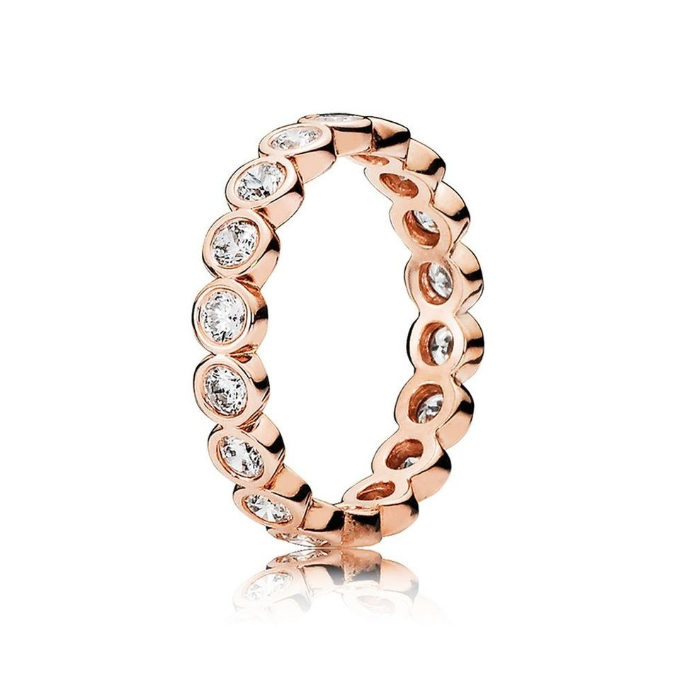 plated bands com eternity ring endless stackable cz rose gold to amazon sterling jewelry band dp size silver