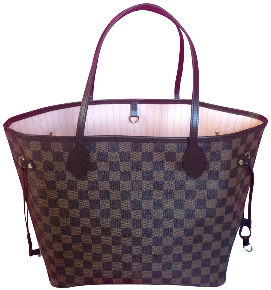 325898d4ff Louis Vuitton Rare Sold Out Neverfull Tote in Damier Ebene Rose Ballerine  Image 0 ...
